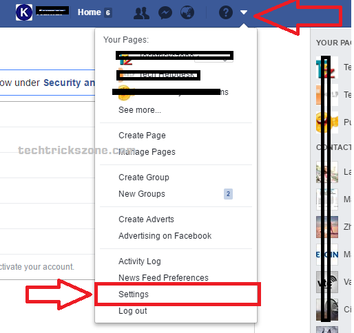 facebook Blocking option
