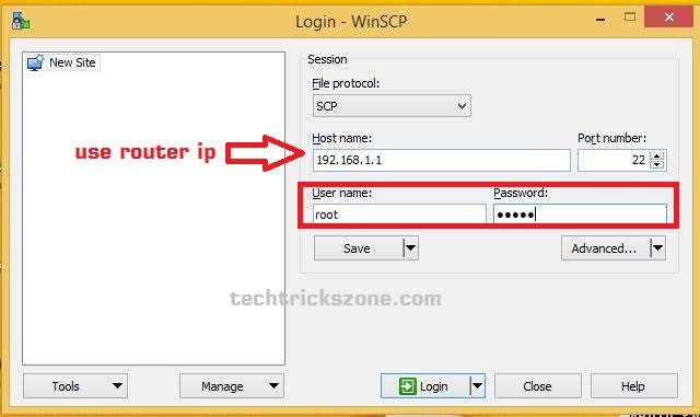 openwrt firmware upgarde with winscp software