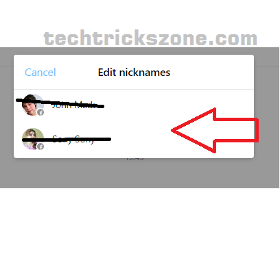 how to edit nickname in faccebook