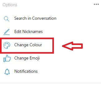 how to change your facebook chat color
