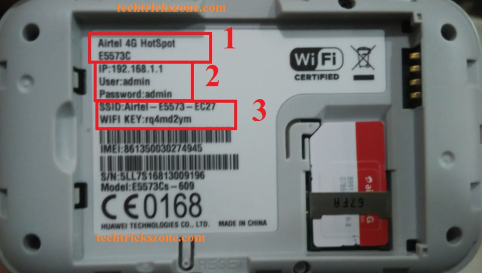Airtel 4G hotspot Router Configuration First Time from Mobile