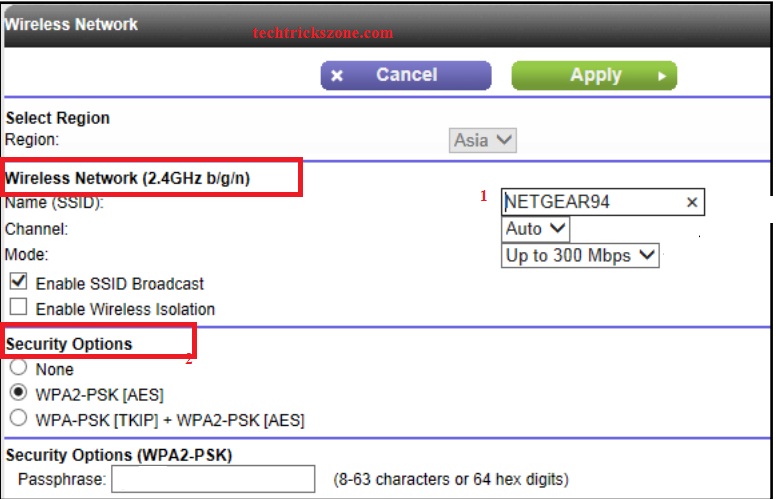 netgear wpa2 password list