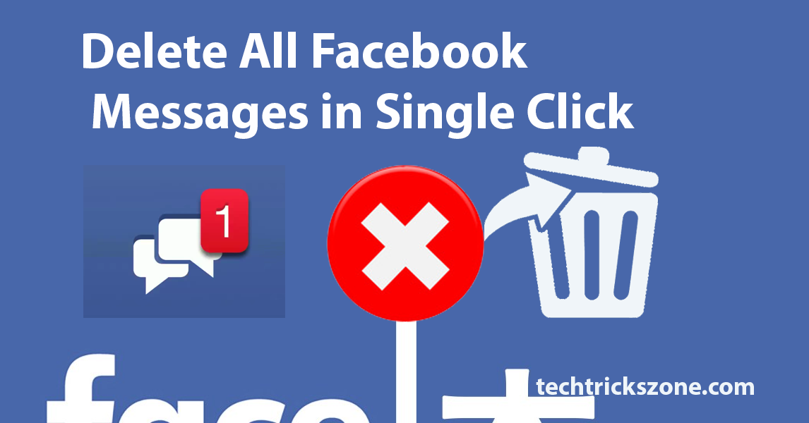 how to delete facebook messages all at once