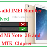 Invalid IMEI number