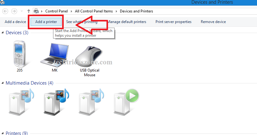 Windows 10 networked printers not showing in Devices and Printers