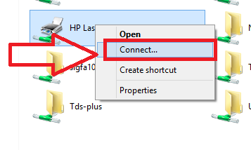 how to connect printer from network