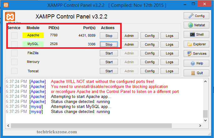 deactivate uac with msconfig windows 10 xampp