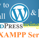wordpress and xampp installation