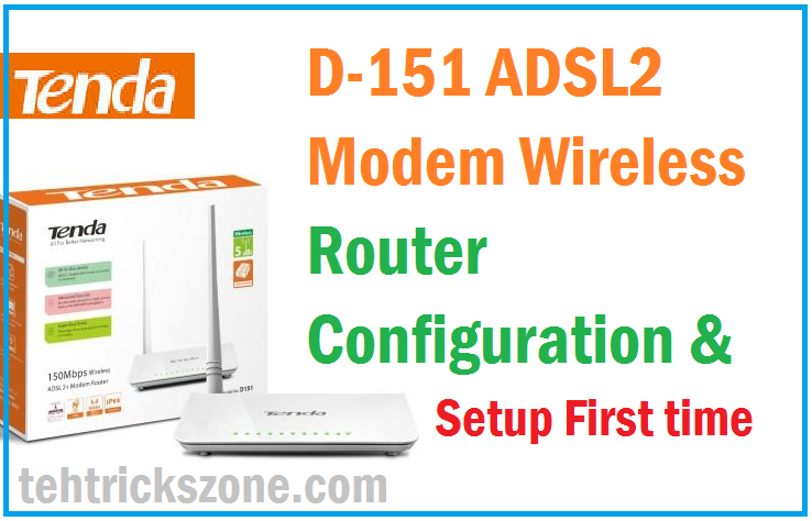 Tenda TE-D151 ADSL WiFi Router configuration