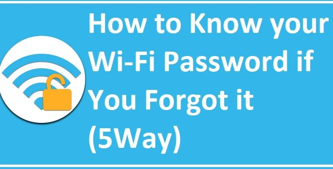 forgot my wifi password