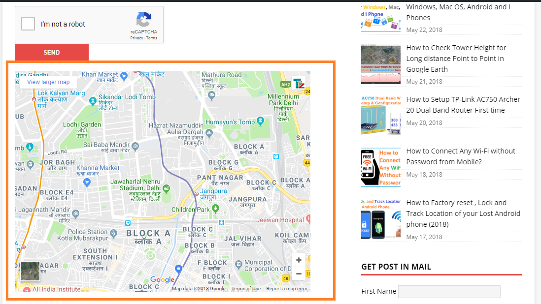 how to add location map in facebook page