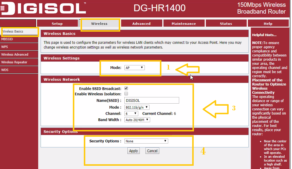 how to configure digisol router dg-hr3400 without cd