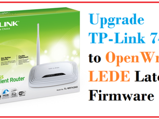 openWrt Lede firmware upgrade from mobile