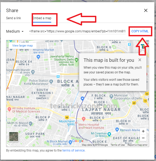 how to add location to mapquest