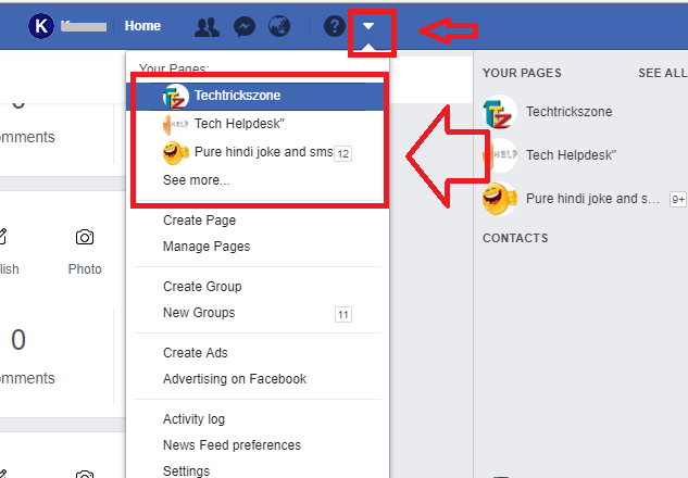 how to change facebook page name