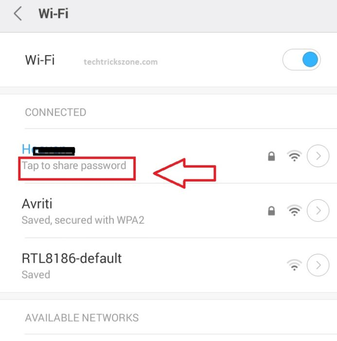 forgot wifi direct password