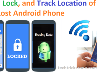 track and erase lost phone