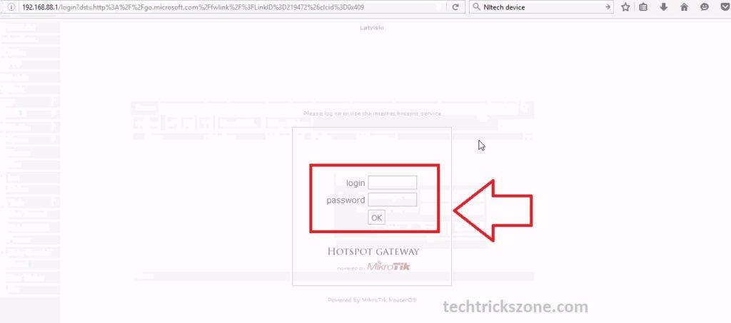 mikrotik responsive hotspot login page