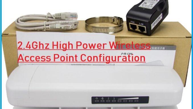 ATSW-1000i High Power Outdoor Device AP mode configuration.