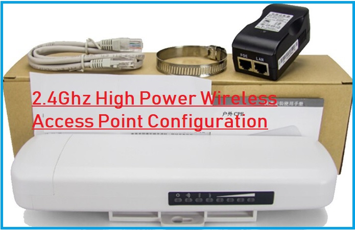 ATSW-1000i High Power Outdoor Device AP mode configuration.