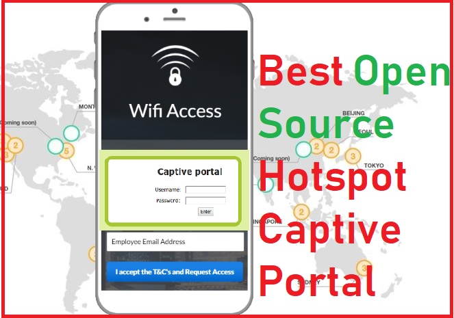 best open source captive portal login page