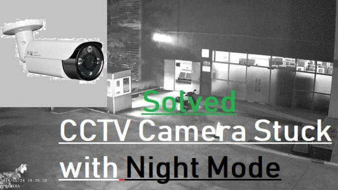 CCTV Camera only showing black and white Video Feed