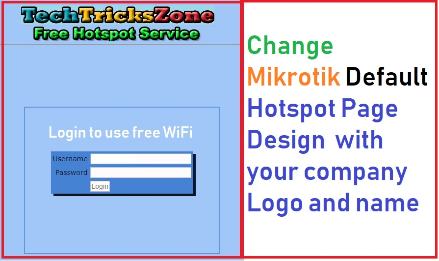 Customize MikroTik Hotspot login page