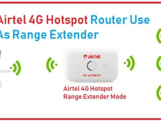 hotspot 4g router as range extender