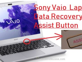 Sony Vaio Latitude Data recovery with Assist Button