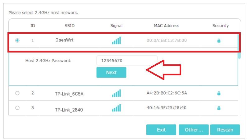 tp link repeater configurar