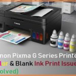 Black Color not printing on Canon Pixma G1000