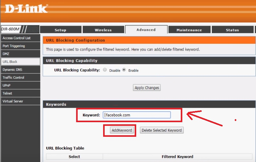 best way to block site on home router