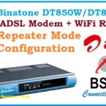 Binatone DT850 ADSL WiFi Router as repeater mode configuration