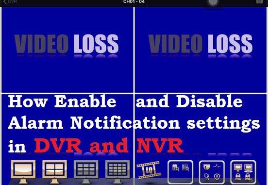 stop CP Plus DVR Beep alarm buzzer