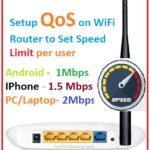 làm thế nào để thiết lập QOS để thiết lập giới hạn tốc độ internet