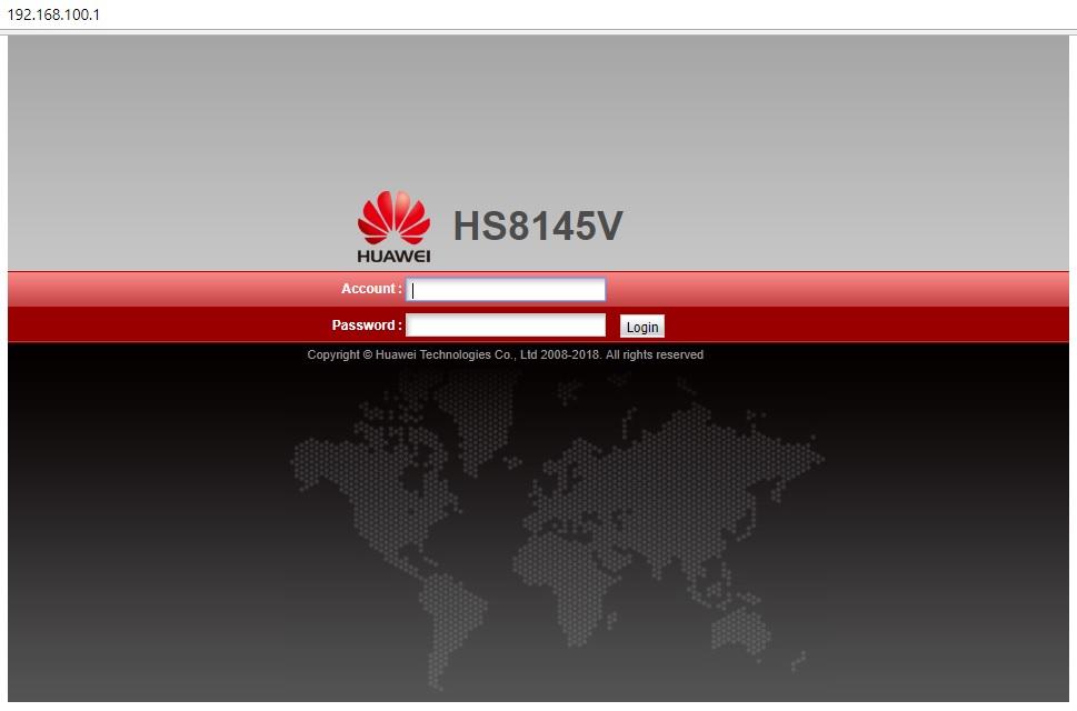 huawei optical network terminal hg8240h gpon
