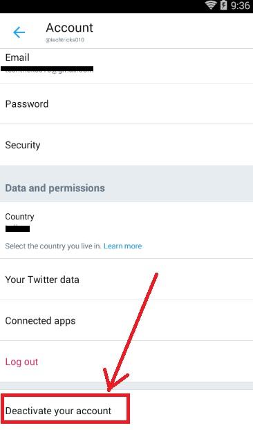 delete twitter account from linkedin