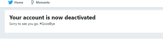 delete twitter account without email