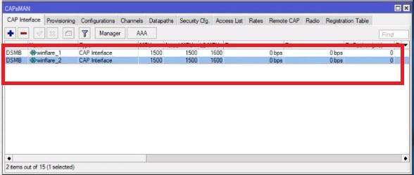 CAPSMAN di cunfigurazione per multiple vlan è multiple SSID