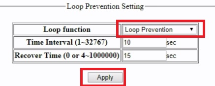 OPL Web Smart Switch Loop detection and Port Isolation Configuration
