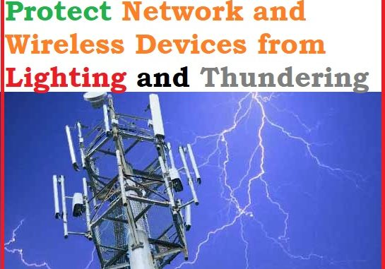 Protect Network and Wireless Devices from Lighting and Thundering