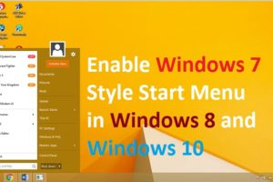 Get Windows 7 Classic Style Menu in Windows 8
