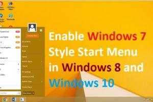 Get Windows 7ClassicStyle Menu in Windows 8
