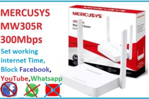 website block and Parental control in mercusys wifi router