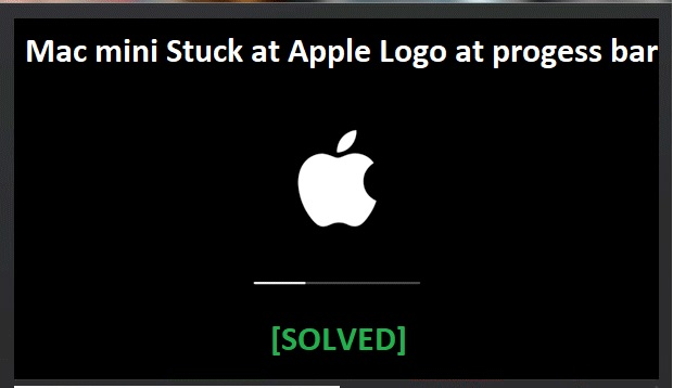 Mac mini stuck on apple logo at progress bar