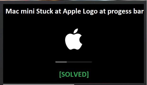 Mac Mini Stuck on Apple Logo Loading Bar Screen [Solved]