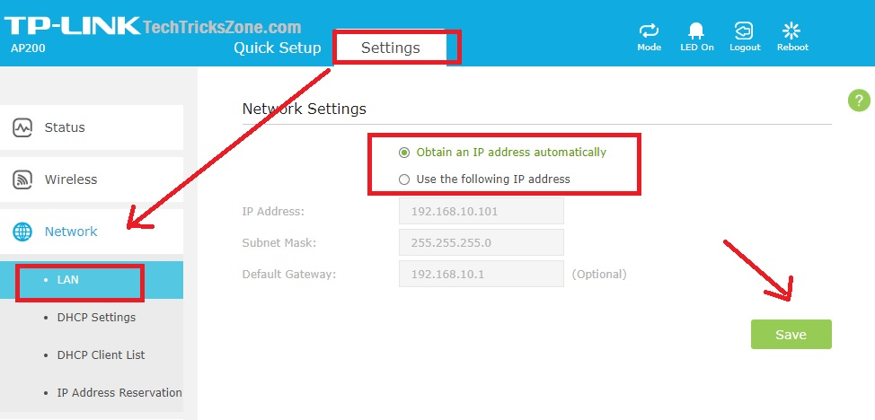 how to enable parental control in tplink ap200