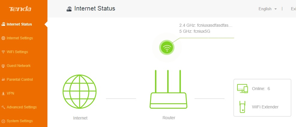 tenda ac15 ac1900 smart dual-band gigabit wireless router default settings