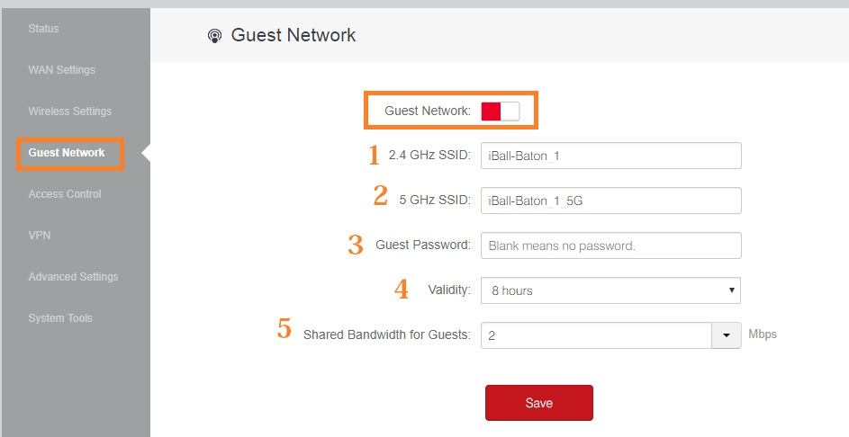 iball baton wifi router security