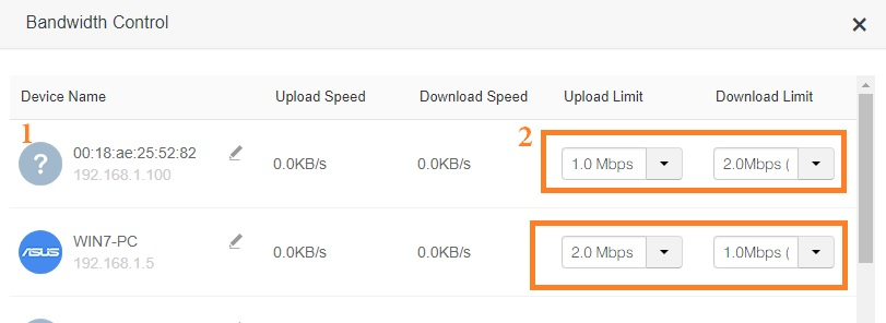 how to set download and upload speed in iball wrb303